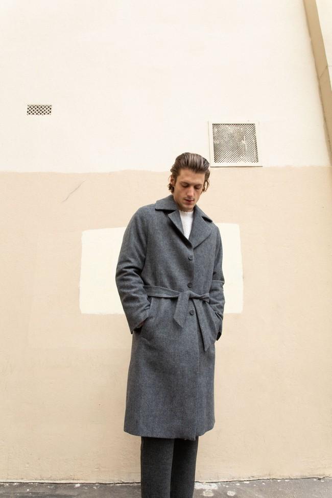 Manteau glasgow laine recyclée - Noyoco