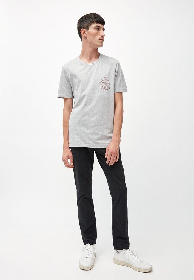 T-shirt gris en coton bio - jaames way to go - Armedangels num 2