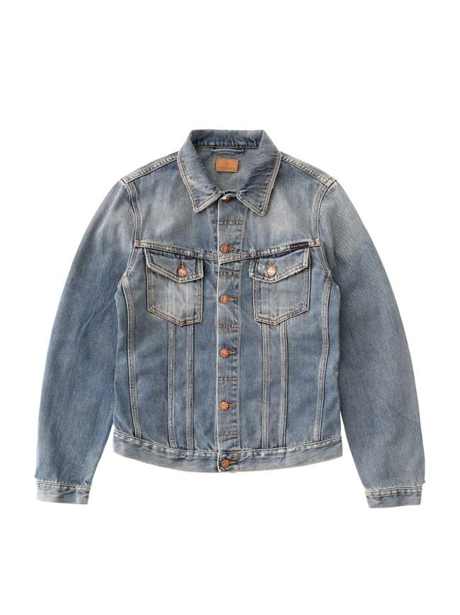 Veste en jean coton bio - billy shimmering - Nudie Jeans num 4