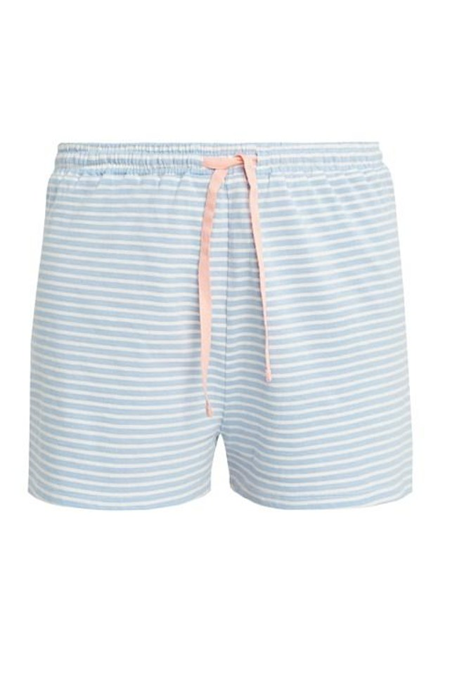 Short pyjama rayé bleu clair en coton bio - People Tree num 4