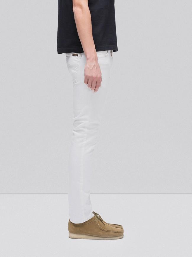 Jean slim blanc en coton bio - lean dean ecru - Nudie Jeans num 2