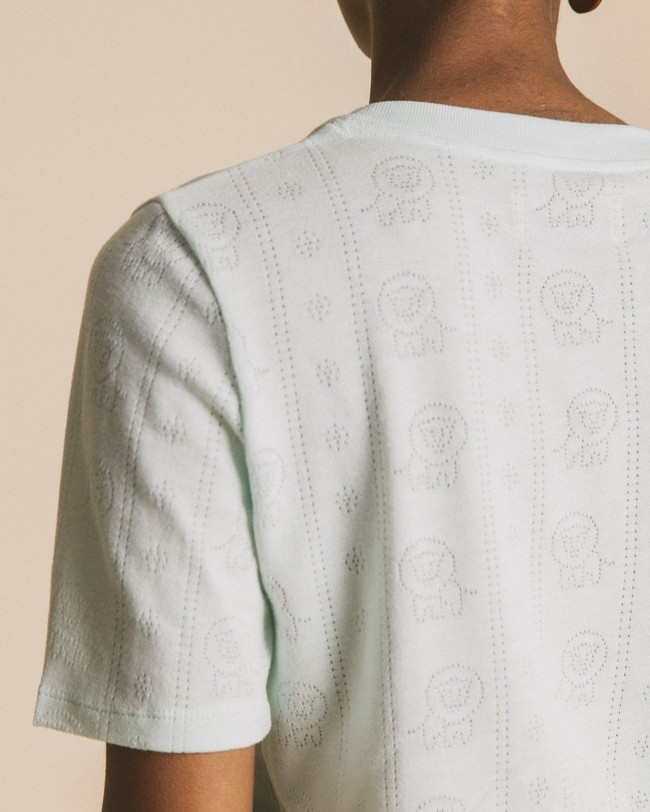 T-shirt bleu ciel en tencel et coton bio - mara - Thinking Mu num 2