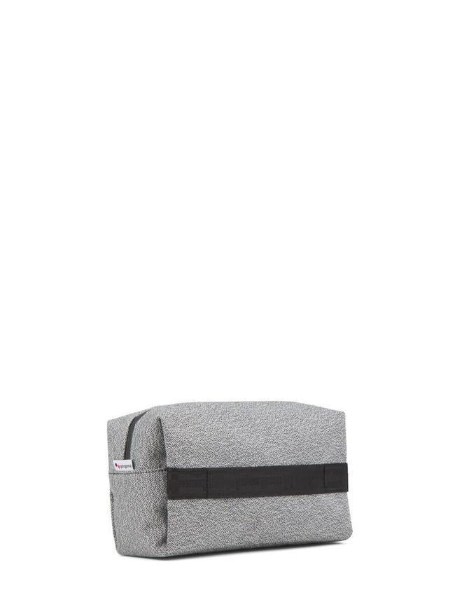 Trousse de toilette grise en plastique recyclé - pinqponq