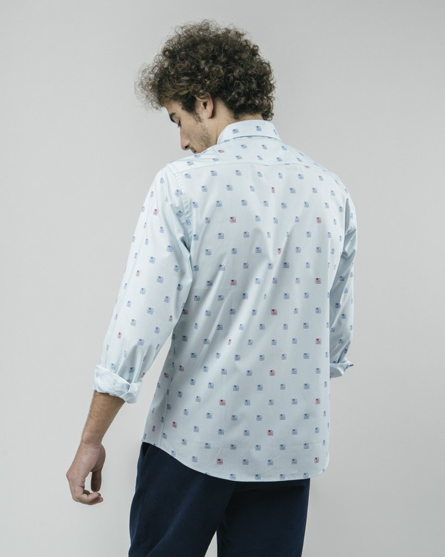 90's diskettes printed shirt - Brava Fabrics num 6