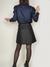 Jupe trapèze bleu noir - Les Récupérables - 6