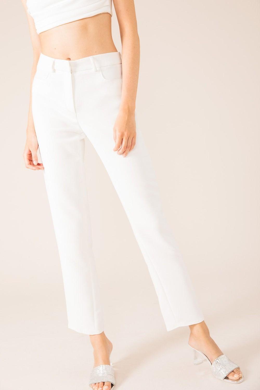 Pantalon tailleur new-york blanc - 17h10
