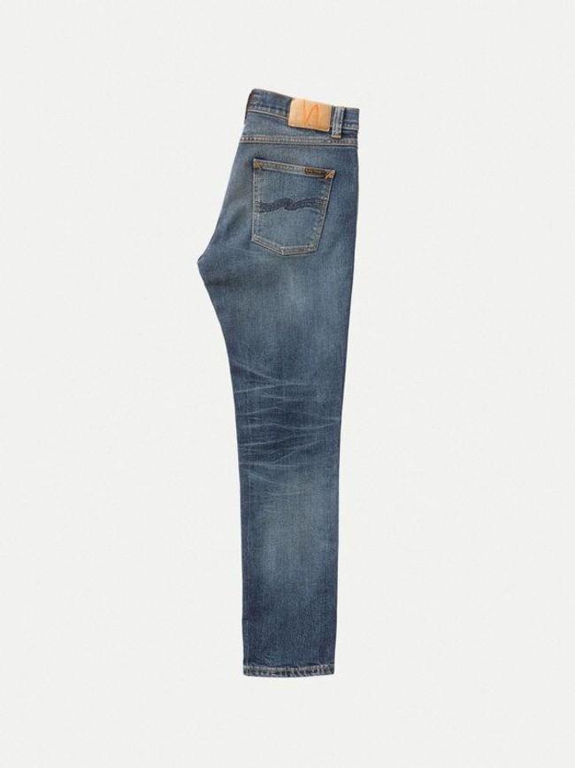 Jean slim indigo délavé en coton bio - lean dean indigo shades - Nudie Jeans num 5
