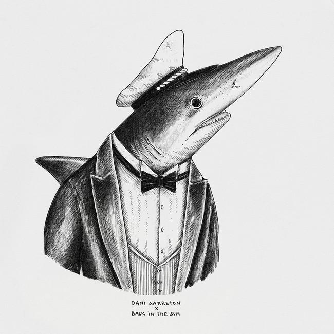Sweat en coton bio white shark - Bask in the Sun num 2