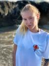 T-shirt blanc en lyocell • éléphant rouge - Omnia in uno - 3