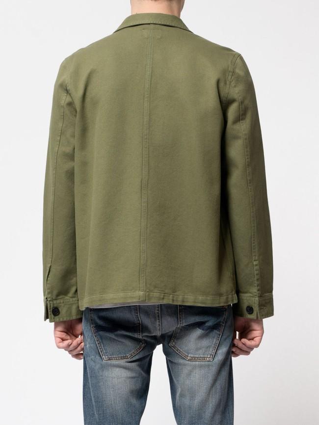 Veste de travail verte en coton bio - barney worker - Nudie Jeans num 3