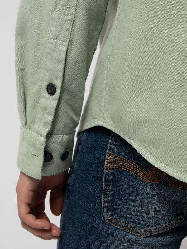 Chemise vert pâle en coton bio - henry - Nudie Jeans num 6