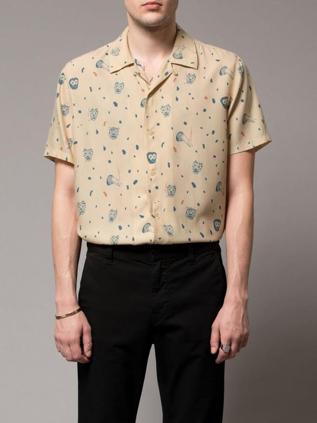 Chemise manches courtes à motifs en coton bio - arvid misfit - Nudie Jeans num 3
