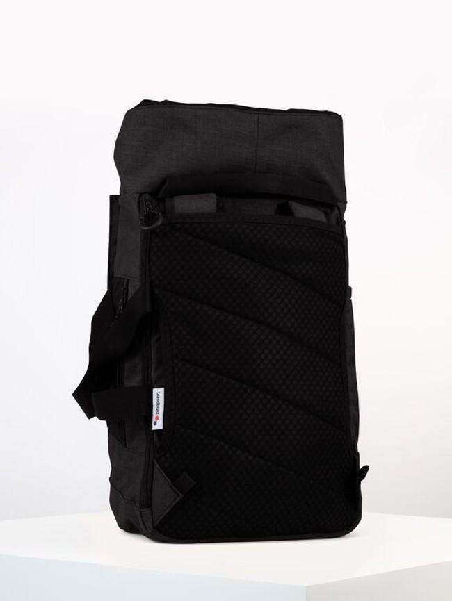 Sac à dos noir anthracite en plastique recyclé - blok medium - pinqponq num 4