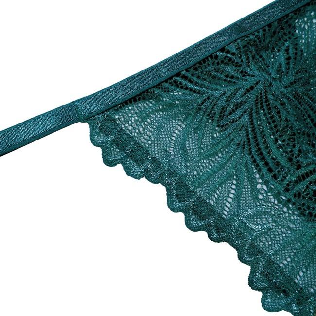 String en dentelle turquoise en élasthanne recyclé - lima - Underprotection num 1