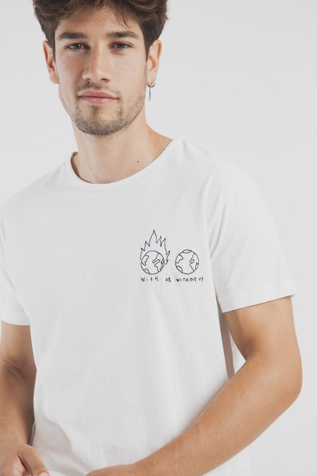 T-shirt en coton bio with or without - Thinking Mu num 5