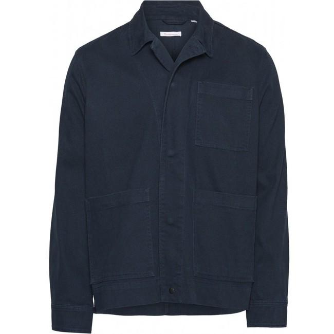 Surchemise bleu nuit en coton biologique - pine - Knowledge Cotton Apparel