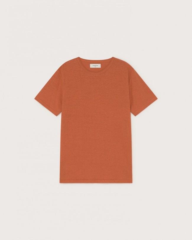 T-shirt terracotta en chanvre et coton bio - Thinking Mu num 4