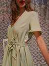 Robe courte menthe - Maison Alfa - 3