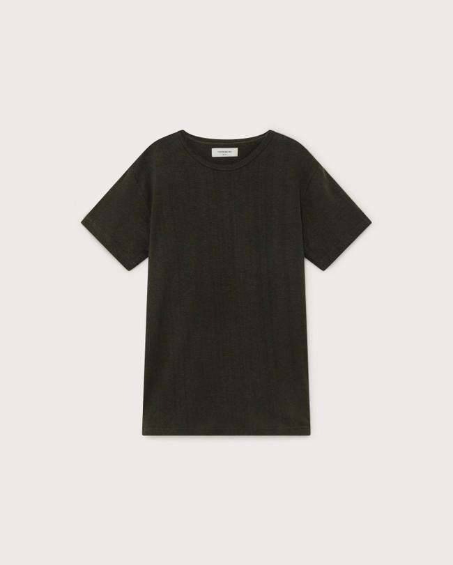T-shirt vert forêt en chanvre et coton bio - mo2 - Thinking Mu num 3