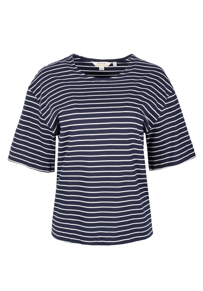 T-shirt rayé en coton bio - sarah - People Tree num 4