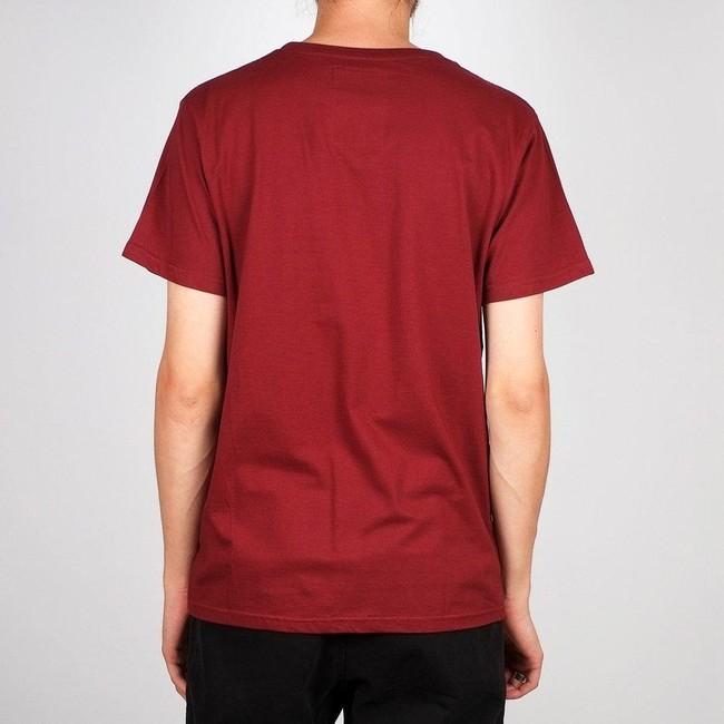 T-shirt bordeaux en coton bio - stockholm - Dedicated num 1