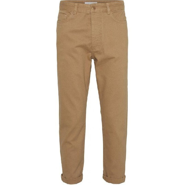 Pantalon chino ample camel en coton bio - bob - Knowledge Cotton Apparel