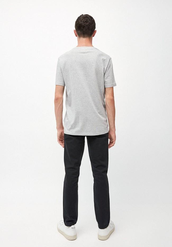 T-shirt gris en coton bio - jaames way to go - Armedangels num 4