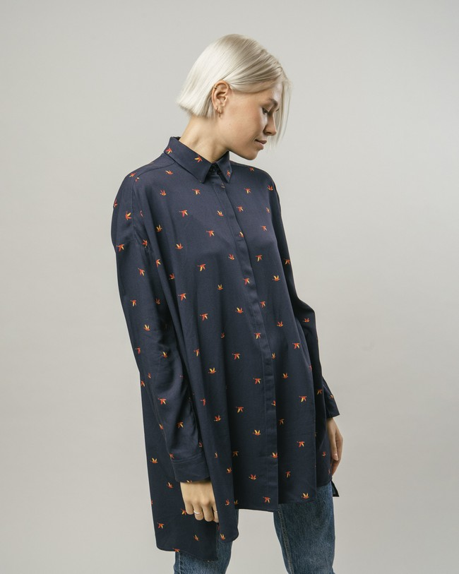 Bird's swarm printed dress - Brava Fabrics