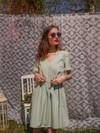 Robe courte menthe - Maison Alfa - 1