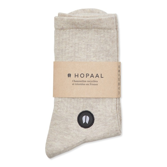 Chaussettes recyclées - field lino - Hopaal