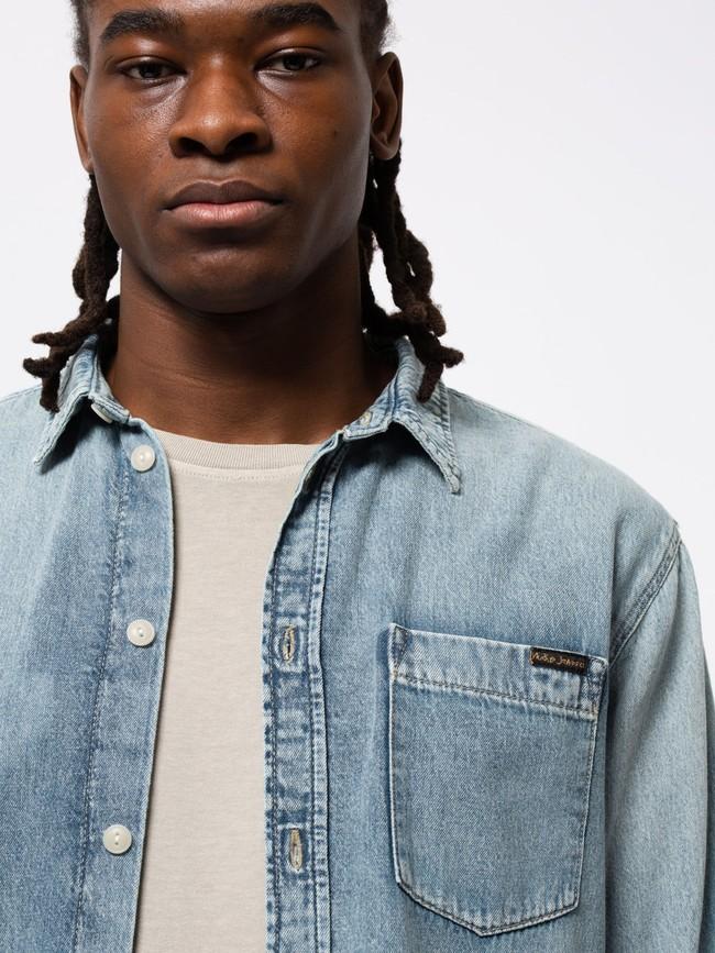 Chemise jean en coton bio - albert - Nudie Jeans num 5