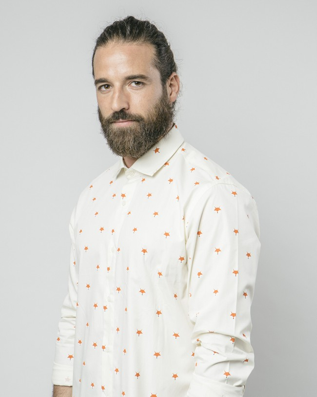 Fox in the snow white printed shirt - Brava Fabrics num 4