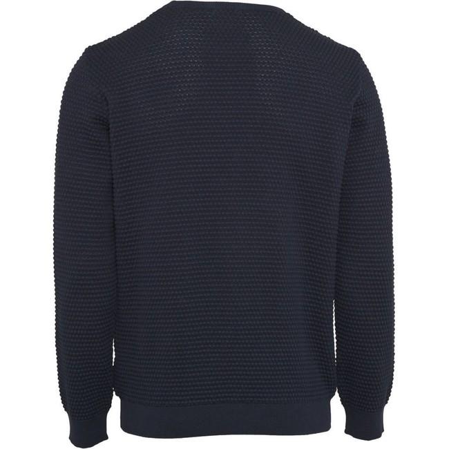 Pull bleu nuit en coton bio - sailor pattern knit - Knowledge Cotton Apparel num 1