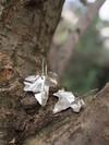 Boucles d'oreilles feuilles de lierre - argent recyclé - Elle & Sens - 4