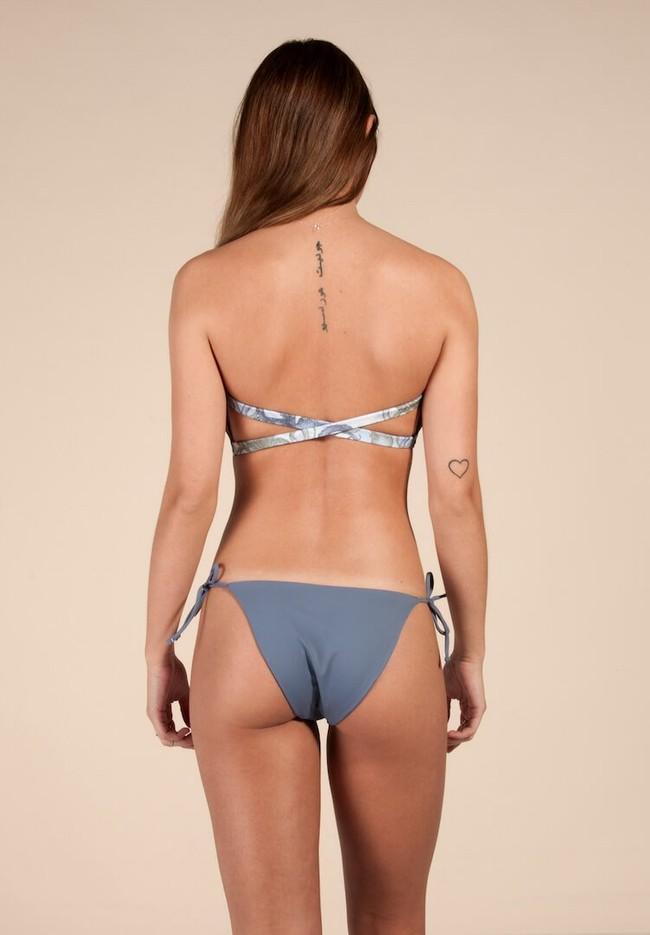 Bas de bikini bleu en polyamide recyclé - Ocealah num 1
