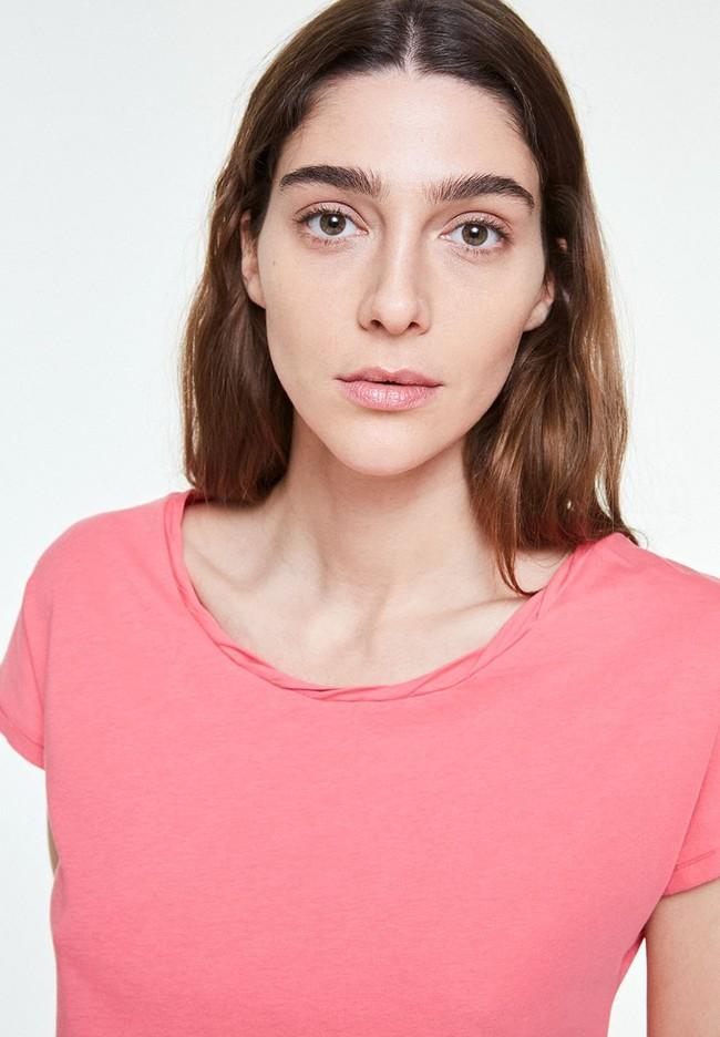 T-shirt uni rose en coton bio - laale - Armedangels num 2