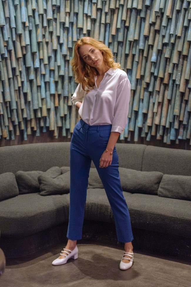 Pantalon tailleur new-york bleu royal - 17h10 num 4