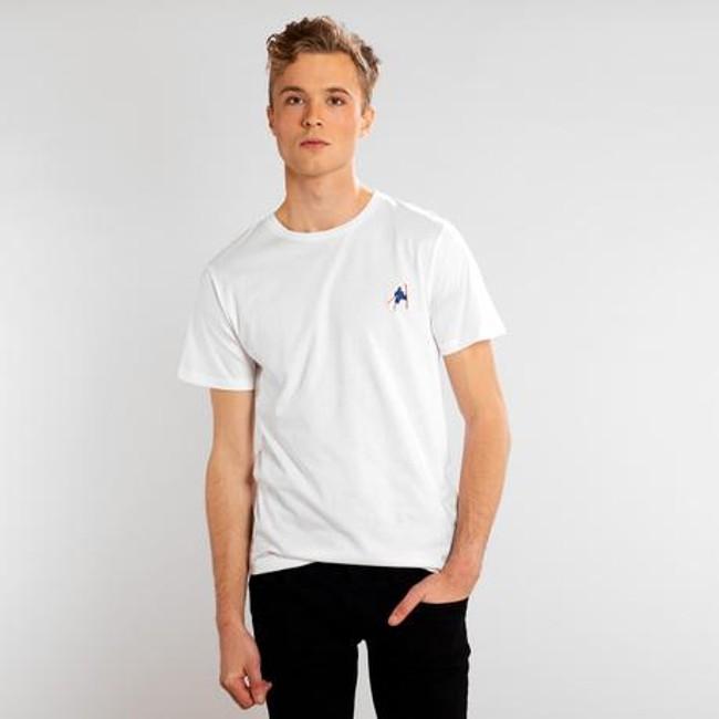 T-shirt blanc motif brodé - daffy - Dedicated