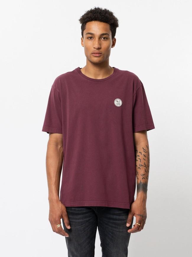 T-shirt ample figue en coton bio - uno njco circle - Nudie Jeans
