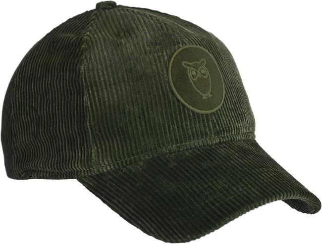Casquette velours vert en coton bio - Knowledge Cotton Apparel