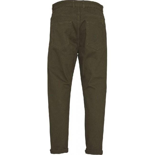 Pantalon chino ample vert forêt en coton bio - bob - Knowledge Cotton Apparel num 1