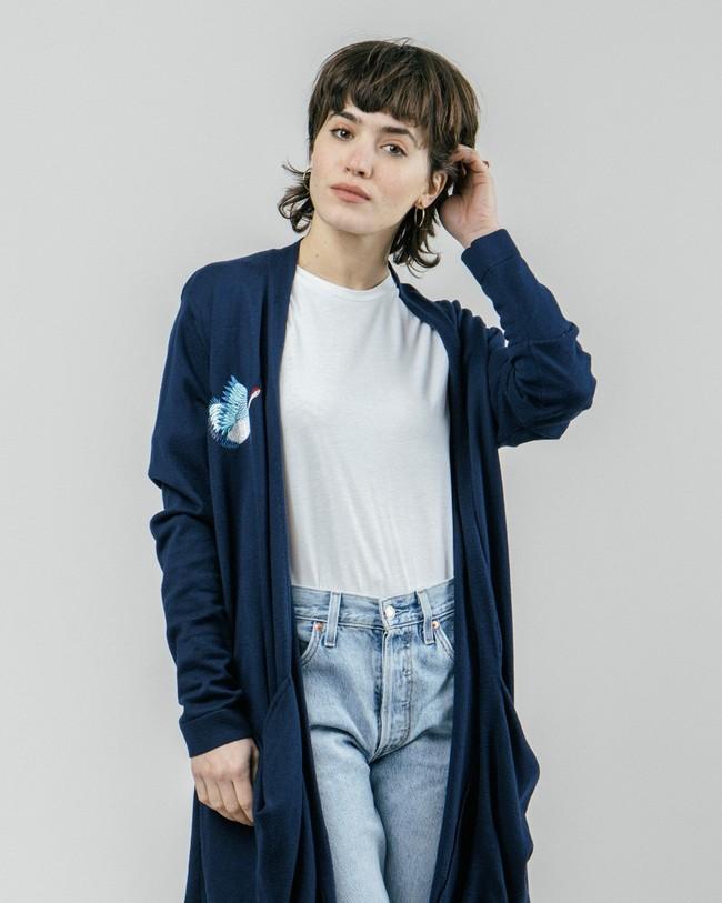 Crane for luck oversized cardigan - Brava Fabrics