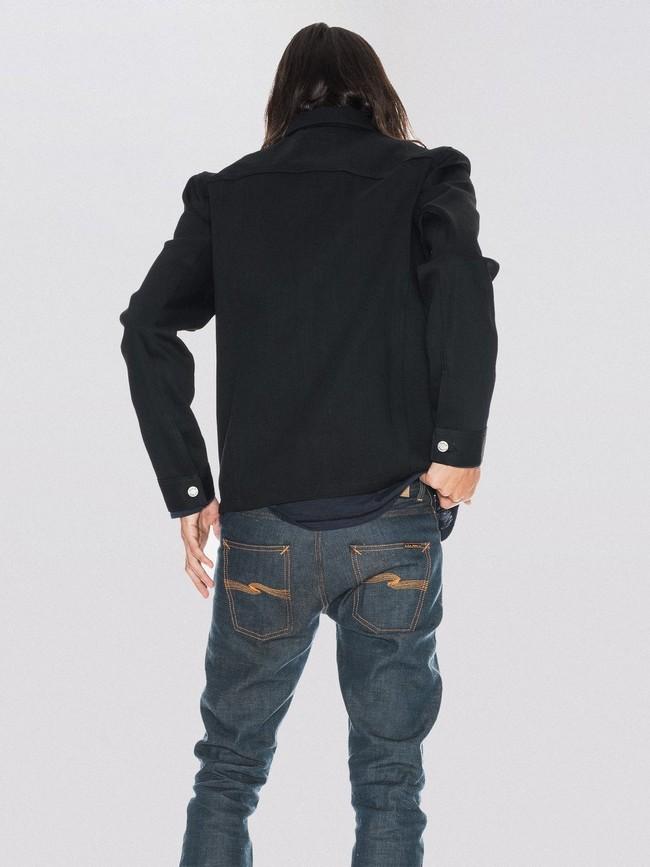 Veste en jean selvage noir en coton bio - ronny - Nudie Jeans num 2