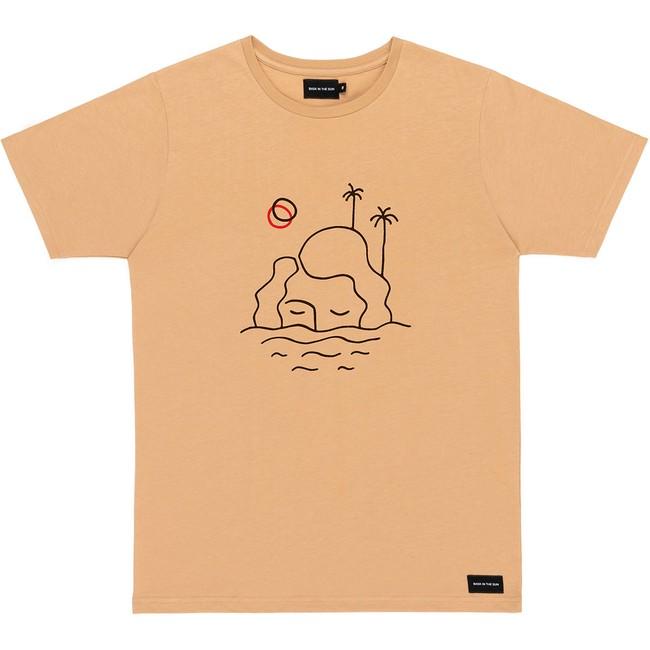 T-shirt en coton bio sand isla - Bask in the Sun