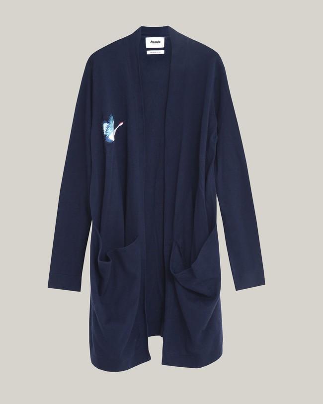 Crane for luck oversized cardigan - Brava Fabrics num 1