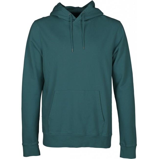 Hoodie vert d'eau en coton bio - ocean green - Colorful Standard