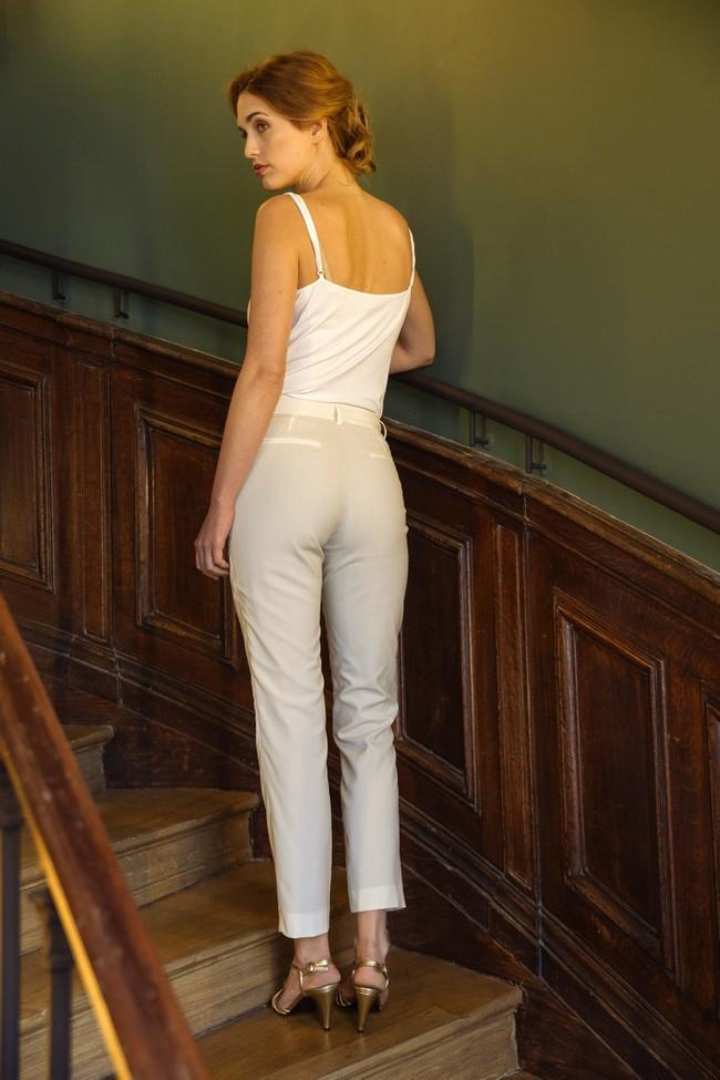 Pantalon tailleur new-york ivoire - 17h10 num 2