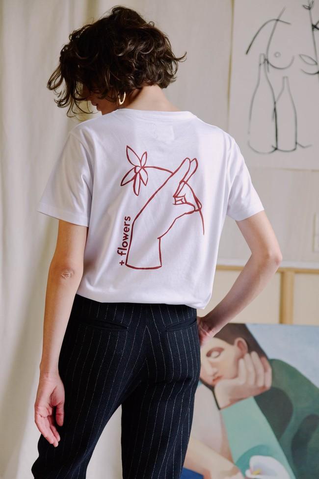 T-shirt coton bio - noyoco x diane - Noyoco num 12