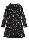 Robe imprimé floral noire en viscose - inaari flower batik - Armedangels - 5
