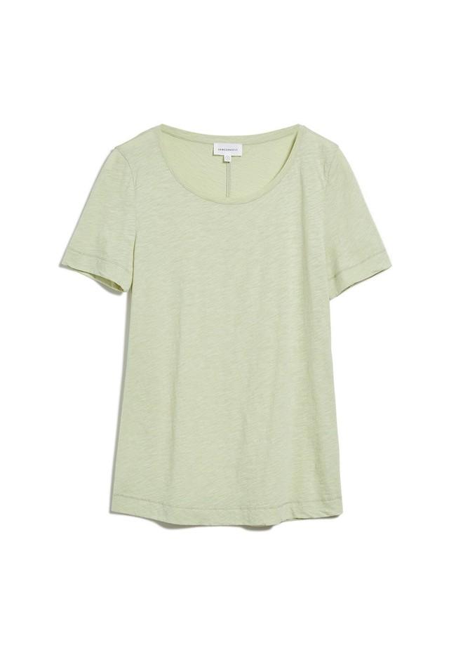 T-shirt vert pâle en coton bio - johannaa - Armedangels num 4